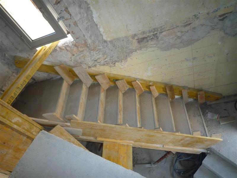 Travaux en sous oeuvre fil construction for Coffrage pour escalier exterieur beton